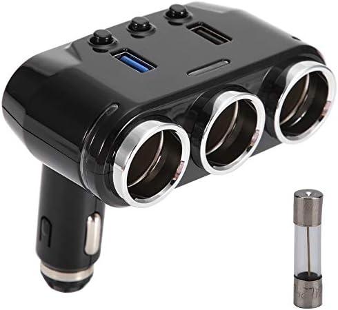 急速充電、USB車の充電器、車のシガーライター電源アダプター車スタイリング3.1AデュアルUSB充電器ソケット