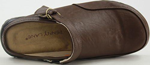 (ペニーレイン) PENNY LANE 6001B メンズ サボ サンダル (M[25.0cm-25.5cm], DBROWN(ダークブラウン))