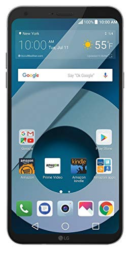 - LG Q6 (US700) 32GB GSM Unlocked 4G LTE Android Smartphone w/ 13MP Camera and Face Recognition - Arctic Platinum