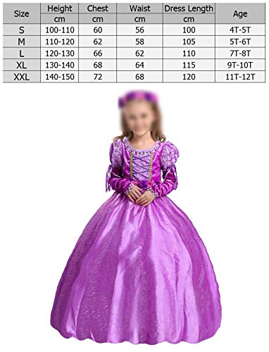Princess Sofia Rapunzel CCostume Birthday Party Dress Halloween Costume,Line