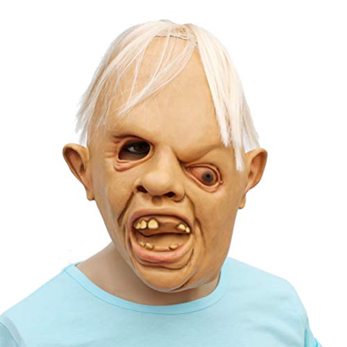 Halloween Creepy Horror Goonies Sloth Latex Head Mask Cosplay Party Novelty Costume]()