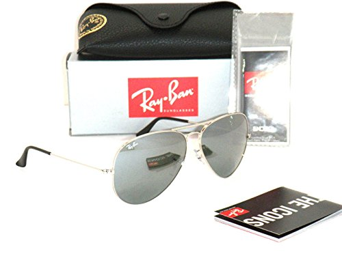 Ray Ban 3025 Aviator RB 3025 003/40 62mm Silver Frame / Full Silver Mirror - Ban Mirrored Silver Aviators Ray
