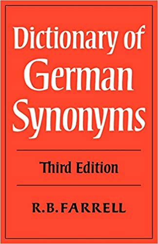 Amazon com: Dictionary of German Synonyms 3ed (9780521290685