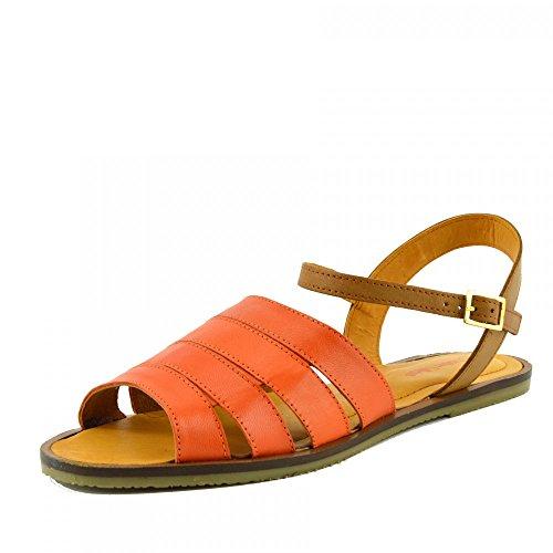 Chutar Calçados - Moda Casual Sandálias De Verão Das Mulheres Sapatos Clássicos Uk 5 / Ue 38, Laranja, Couro Real De Material Superior