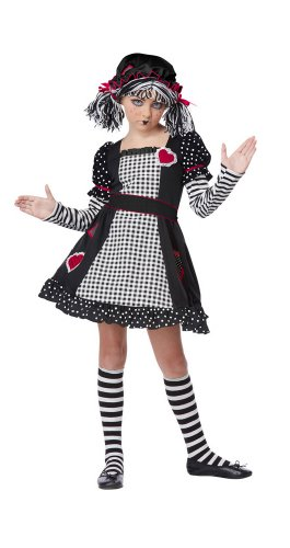 California Costumes Rag Doll Child Costume, Medium