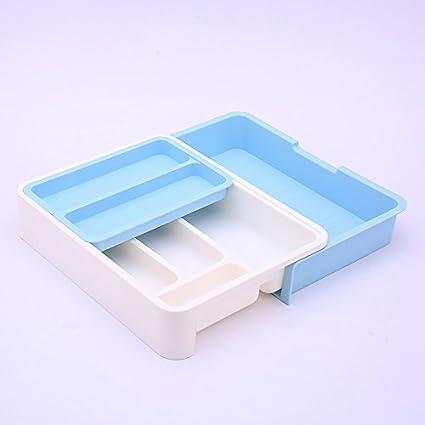 Organizador/cajón ampliable divisores de cubertería, vajilla de Separación Caja de ordenación Ordenar el