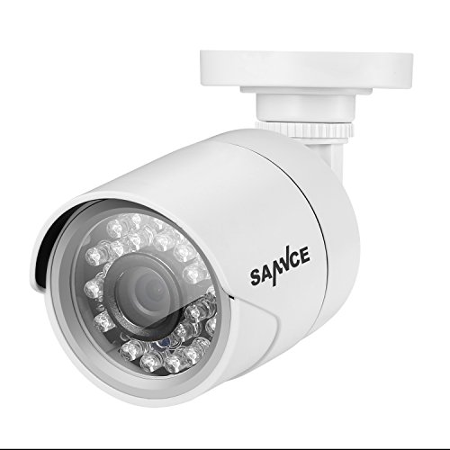 "SANNCE HDTVI 1500TVL HD Fixed CCTV Security Camera 1.0MP 1/4 ""Color CMOS Sensor with IR Cut, IP66 Weatherproof, 66FT Night Vision, Compatible with TVI DVR Security System"