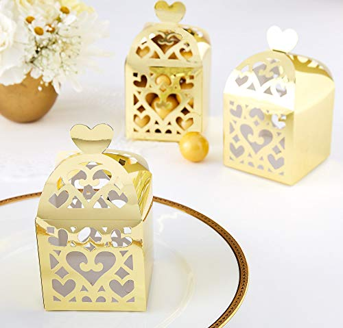 Amscan Gold Lantern Favor Boxes | Wedding and Engagement Party