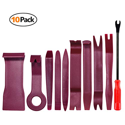 (Auto Trim Removal Tool Kit for Car Door Clip Panel Audio Video Dashboard, Set of 10Pcs)