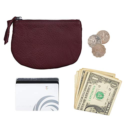 Befen Women Small Cute Leather Wallet, Soft Mini Coin Purse with Card Slots for Women and Teens Girls (Burgundy Coin Purse) by befen (Image #1)