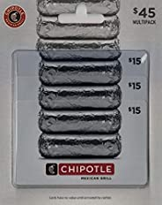 Chipotle Gift Card, Multipack of 3