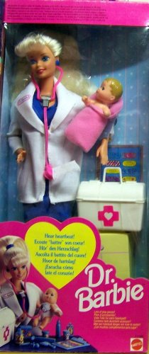 Dr. Barbie Doll - Hear Baby's Heartbeat! w