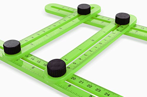 Angle Template Tool | Angle Measure Tool | Expert Multi-Angle Ruler | Ultimate Template Tool to Save Time For Carpenters, Builders, Craftsmen, Tilers & DIY-ers | Wet Tile Cutter Measure Tool | (Square Laminate Flooring)