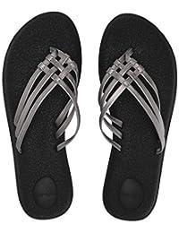 Sanuk Womens Yoga Salty Metallic Flip-Flop