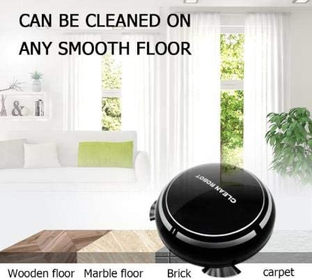 LXRZLS 2 dans Une Batterie Rechargeable Floor Balayage Robot poussière Receveur ménage Intelligent Floor Cleaner Balayage Robot Aspirateur Mop (Color : White) Black