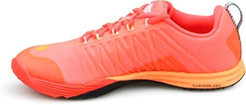 EleHombresto Nike Mujer's Lunar Cross Lava Caliente Brillante Crimson Black Citrus 653528-801 Talla 7