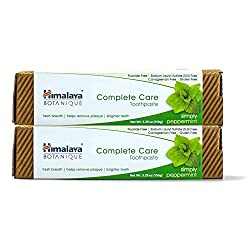 Himalaya Complete Care toothpaste - Simply Peppermint 5.29 oz/150 gm (2 Pack) Natural, Fluoride-Free & SLS-Free…