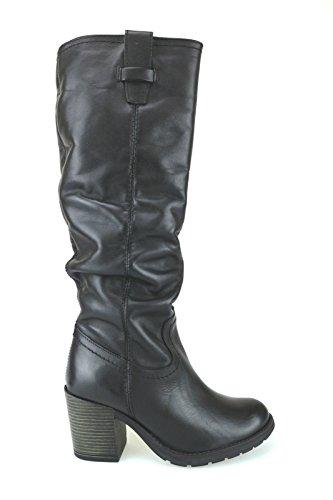Zapatos mujer KEYS Botas negro cuero AJ121
