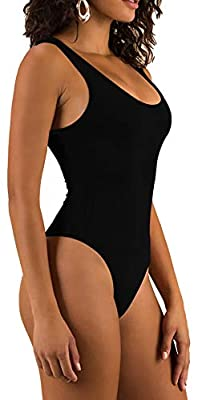 Black Bodysuit - Women's Slimming Body Suit Sleeveless Control Shape Wear