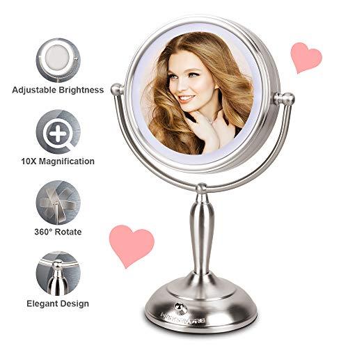 MIRRORMORE Lighted Vanity Mirror, 7.5 Inch