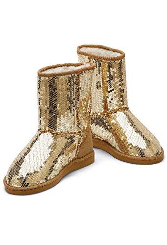 Recital Costumes Hip Hop (Balera Dance Boots Sequin Galoshes Gold 2AM)