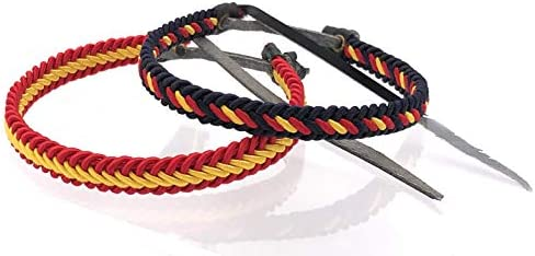 MovilCom® Pack de 2 Pulseras Pulsera de Cuero e Hilo Trenzada Colores Bandera ESPAÑA 2 Unidades 2 Colores: Amazon.es: Joyería