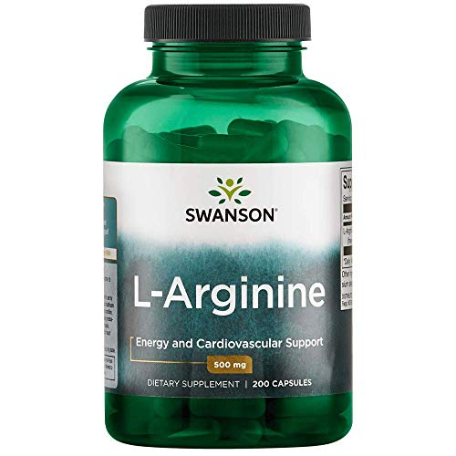 Swanson Amino Acid L-Arginine 500 Milligrams 200 Capsules