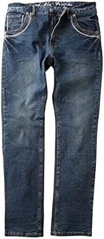 [nissen(ニッセン)] ストレッチ 素材 デニム デザイン パンツ 刺しゅう入 メンズ