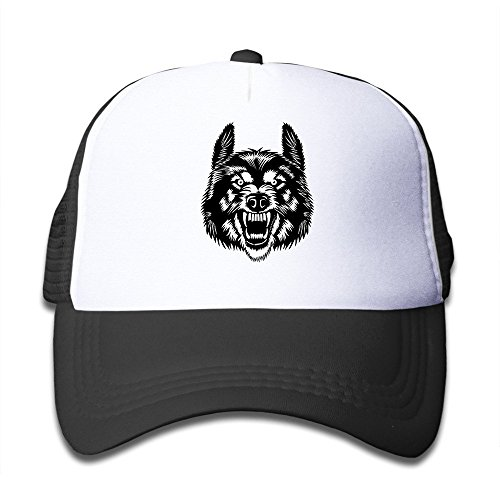 Price comparison product image KEIOPO Youth Wolf Head Adjustable Mesh Trucker Caps Hats