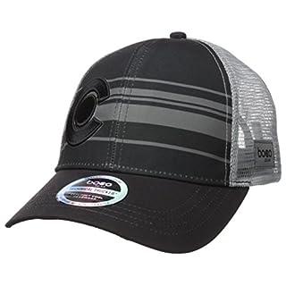 BOCO Gear Technical Trucker Hat - Colorado - Black with Grey Stripes