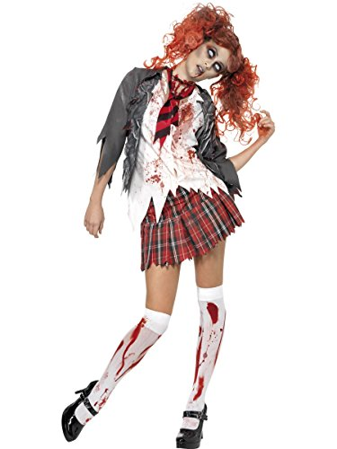 [High School Horror Zombie Schoolgirl Costume - Small - Dress Size 6-8] (High School Zombie Costumes)