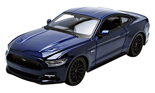 Maisto 2015 Ford Mustang Gt 5.0 1/24 Scale Diecast Model Car Blue