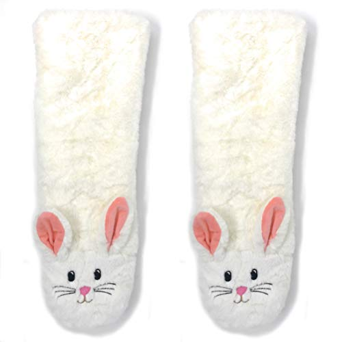 OoohYeah Women's Super Soft Pet Bunny Sherpa Slippers One Size
