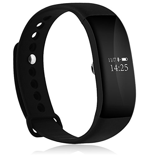 Fitness Tracker, Heart Rate Monitor Waterproof Activity Health Tracker Bluetooth Wireless Smart Bracelet with Pedometer Sleep Monitor and Step Calorie Counter By Diaduchi