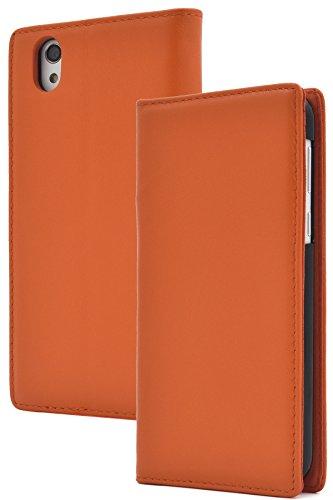 PLATA SH-01K / SHV40 / SH-M05 ケース 手帳型 ラム シープスキン 羊革 本革 レザー カバー 【 オレンジ 橙 おれんじ orange 】