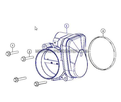 Mopar 4591847AC Throttle Body by Mopar (Image #1)