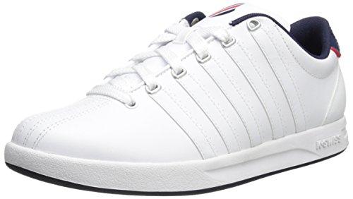 K-Swiss Men's Pro Court Inspired Silhouette Shoe, White/Navy/Red, 10.5 M US