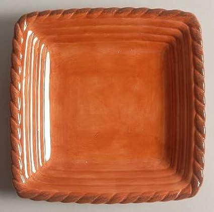 Fine China Dinnerware Artimino Tuscan Countryside-Terra Cotta Square Salad Plate