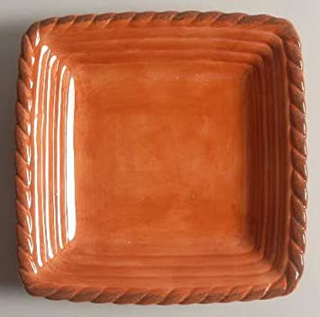 Artimino Tuscan Countryside-Terra Cotta Square Salad Plate Fine China Dinnerware & Amazon.com | Artimino Tuscan Countryside-Terra Cotta Square Salad ...