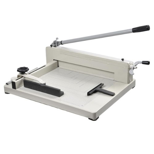 17 Heavy Duty Manual Guillotine Stack Paper Cutter Trimmer Max Cap. 400 Sheets for Office Home Printing Photography Shop Cutting Measuring Equipment Machine Generic