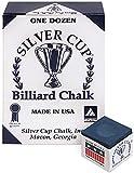 Silver Cup Billiard CHALK - ONE DOZEN