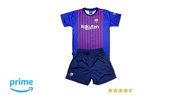 Conjunto Camiseta y Pantalon 1ª Equipación 2018-2019 FC. Barcelona - Réplica Oficial Licenciado - Dorsal Liso - Niño