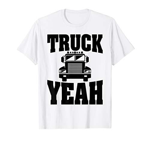 (Trucker Shirt Truck Yeah Tees Driver Funny Men Dad Grandpa)