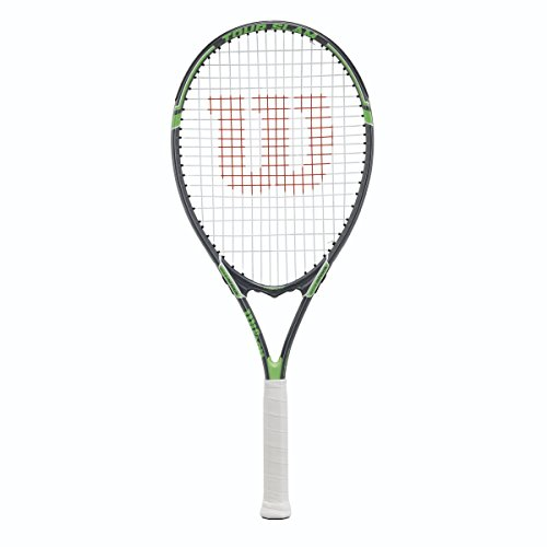 (Wilson Tour Slam Strung Tennis Racquet, 4 1/4-Inch, Black/Green)
