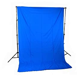 CowboyStudio 10 X 12ft Chromakey Blue Muslin Backdrop with Support System and Carry Bag