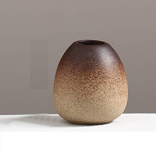 8.37.62.3cm Céramique Petit Vase Maison ArrangeHommest de Fleurs décoration Vase décoration de Table de Fleurs séchées JSFQ (Taille   8.3  7.6  2.3cm)