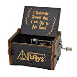 Levanco Upgrade Harry Potter Music Box Carved Wooden Music Box Antique Carved Music Box Crafts(Harry Potter Melody)