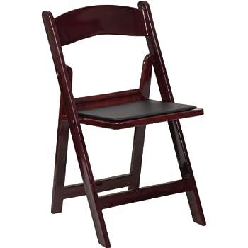 flash furniture hercules series 1000 lb capacity red mahogany resin folding chair with black vinyl