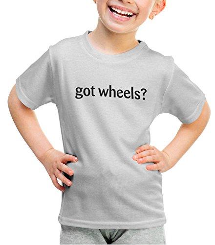 ShirtLoco Girls Got Wheels Youth T-Shirt, Ash Medium