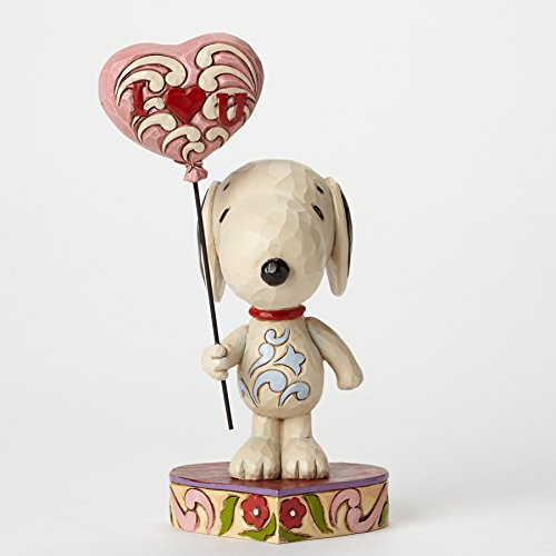 Jim Shore for Enesco Peanuts Snoopy with Heart Balloon Figurine, 7.75
